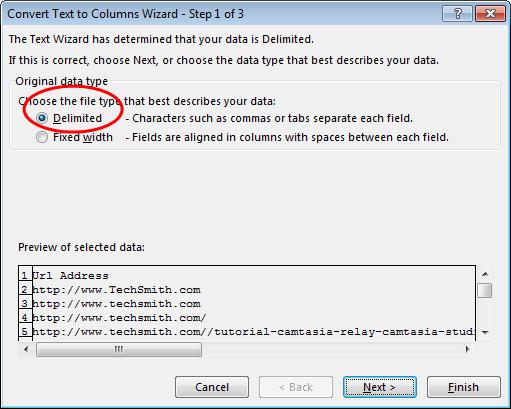 Delimited CSV File