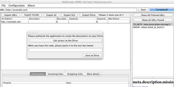 Mac OSX Dmg SEO Crawler