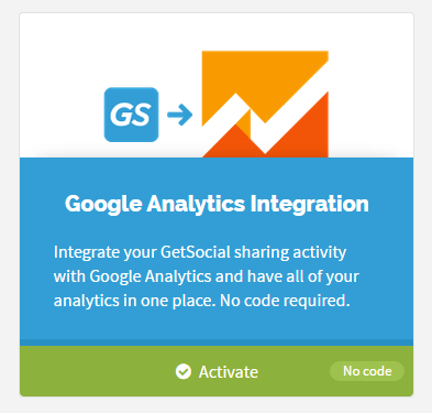 get social google analytics tracking